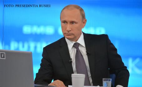 Vladimir Putin la conferinta de presa maraton