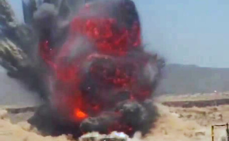 Explozie uriasa la periferia capitalei Yemen-ului. VIDEO. \