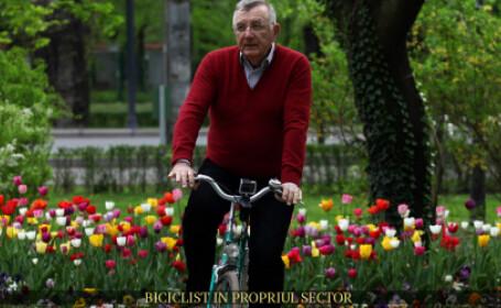 Biciclist in propriul sector. Andrei Chiliman vorbeste despre marea problema a parcului Herastrau: \