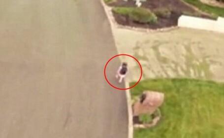 Barbatul din SUA care isi urmareste copilul cu drona pe drumul pana la scoala. \