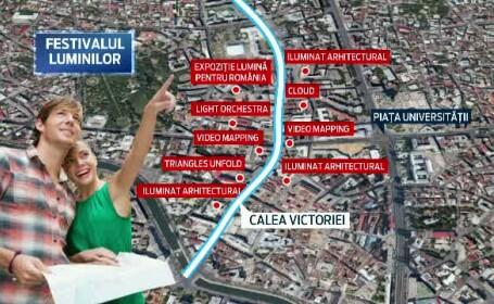 Festivalul International al Luminii. Spectacol in Bucuresti: 16 instalatii de arta vor schimba complet strazile orasului