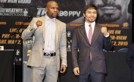Floyd Mayweather Jr. si Manny Pacquiao - GETTY