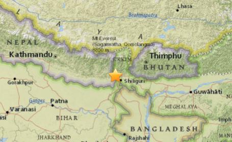 Un cutremur de 5,1 pe scara Richter s-a produs la granita dintre India si Nepal: \
