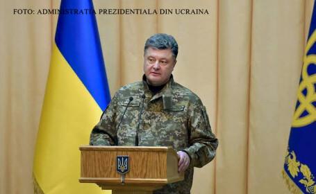 Petro Porosenko, presedintele Ucrainei, in uniform FOTO PR