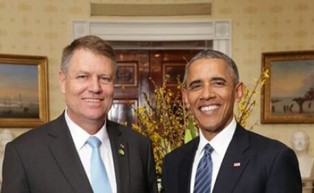 Klaus Iohannis s-a intalnit cu Barack Obama, la Casa Alba. Discursul sustinut de presedintele roman despre securitate