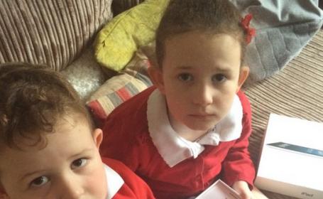 Reactia acestor copii cand isi dau seama ca au fost pacaliti de tatal lor, de 1 aprilie, a cucerit Twitter-ul