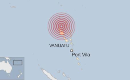 Cutremur cu magnitudinea 7,2 in Vanuatu. Autoritatile au anulat avertizarea de tsunami