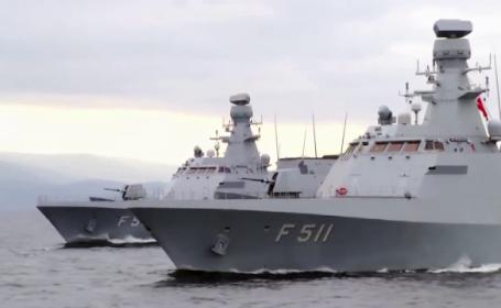 Trei nave performante de razboi ale Turciei, in portul Constanta. Motivul pentru care au fost trimise in Romania