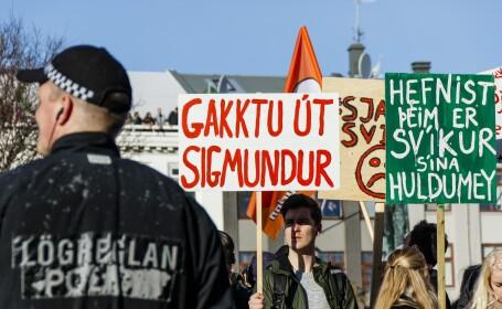 proteste Islanda Agerpres