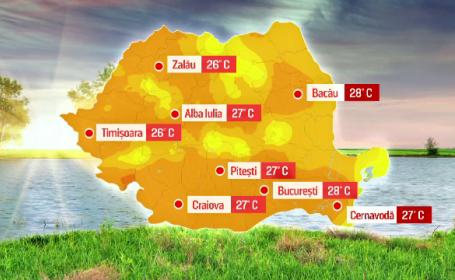 vreme calda harta 6 aprilie