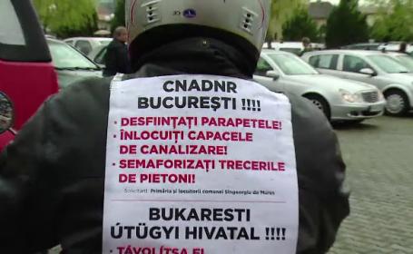 600 de soferi au protestat pe drumul unde isi risca zilnic viata. Localnici au ajuns la capatul rabdarii