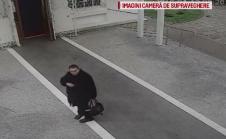 Furt filmat in biserica. O femeie a intrat cu o geanta la rugaciune si a iesit cu doua