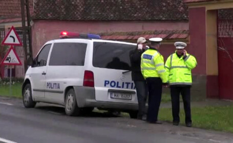 politisti pe strada in Covasna