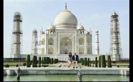 William si Kate la Taj Mahal