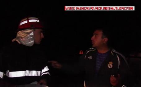 Pompieri injurati si agresati la locul unui accident de un barbat baut. Cum au reactionat politistii