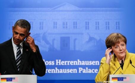 Intalnire Barack Obama si Angela Merkel