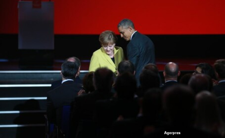 Barack Obama si Angela Merkel