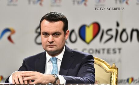 Catalin Chereches, primarul municipiului Baia Mare, participa la conferinta de presa prilejuita de organizarea concursului Eurovision 2016