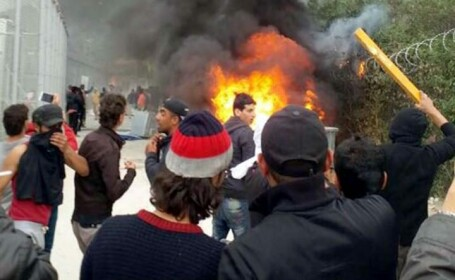 Violente imigranti Lesbos