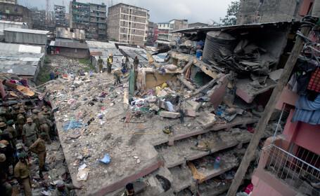 Tragedie in Nairobi. Cel putin 7 oameni au murit dupa ce o cladire s-a prabusit din cauza inundatiilor. FOTO si VIDEO