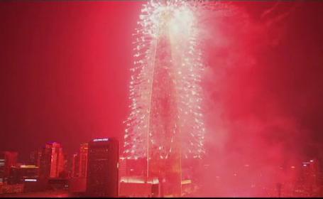 A cincea cea mai inalta cladire din lume, inaugurata in Coreea de Sud. Spectacolul fastuos pregatit pentru eveniment