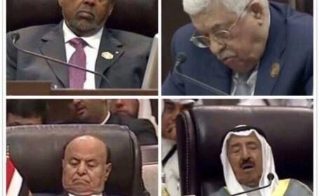 Liderii musulmani prezenti la Summit-ul Arab anual au adormit in timpul discutiilor. Fotografiile s-au viralizat