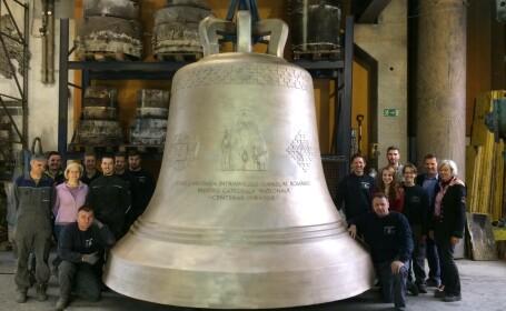 Chipul Preafericitului Daniel, pe cel mai mare clopot din Europa: \
