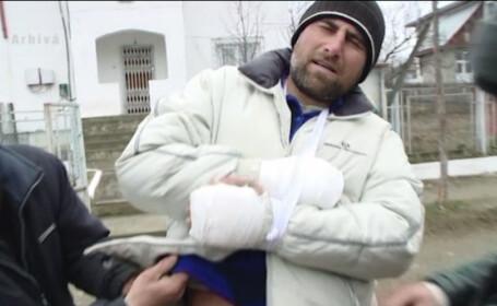 barbat agresat de politisti