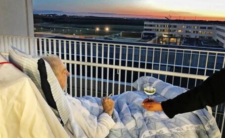 O tigara si un pahar de vin. Un spital i-a indeplinit ultima dorinta a unui pacient, cu cateva ore inainte de a muri. FOTO