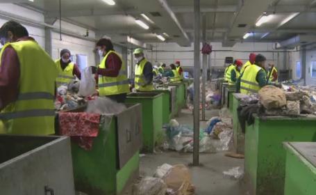Pungile de plastic foarte subtiri vor disparea de pe piata. Conditiile in care angajatii de la reciclare le sorteaza manual