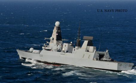 Cel mai puternic distrugator al marinei britanice, trimis in Marea Neagra. La ce misiune va participa alaturi de romani
