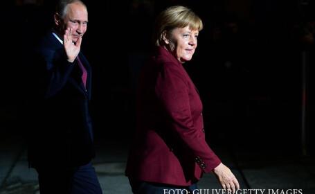 Merkel urmeaza sa discute cu Putin, marti, despre conflictele din Ucraina si Siria. Ce alte subiecte vor mai dezbate
