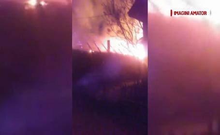 Locuința unei familii din Baia Mare, cuprinsă de flăcări în Vinerea Mare