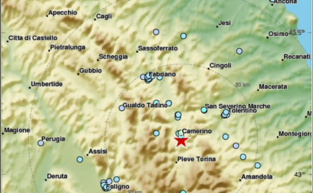 Centrul Italiei, zguduit de un cutremur de 4,7 pe Richter în cursul dimineții