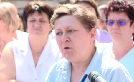 Protest la Spitalul de Boli Infecţioase din Timişoara, din cauza salariilor micșorate. \