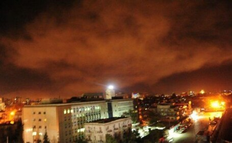 atac in Siria, imagine din Damasc