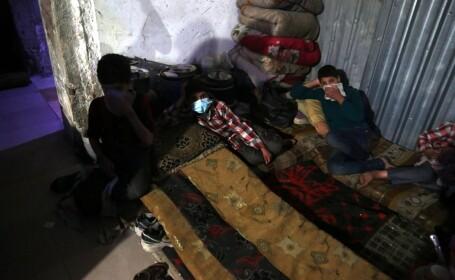 copii, victime ale atacului din Douma