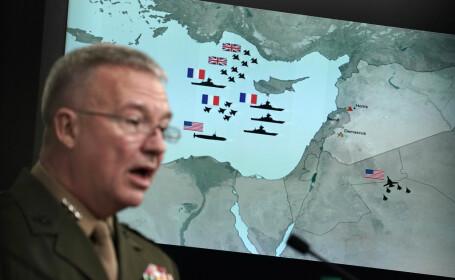 Generalul. Kenneth F. McKenzie Jr., briefing privind atacul asupra Siriei