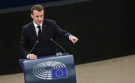 Macron: Atmosferă de război civil în Europa. Naţionalismul a câştigat teren