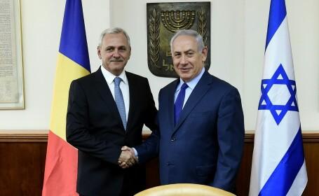 Liviu Dragnea s-a intalnit in Israel cu premierul Benjamin Netanyahu