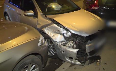 Accident cu 4 mașini în Capitală. Șoferii aruncă vina unul pe celălalt