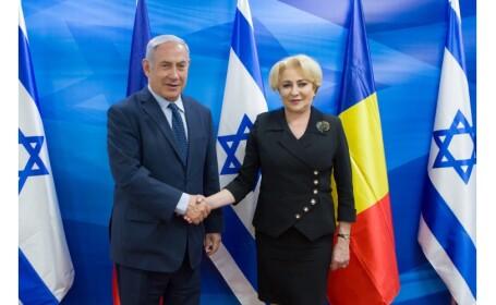 Viorica Dăncilă se întâlnește vineri cu Benjamin Netanyahu