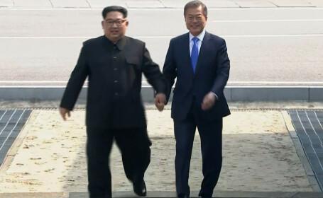 """Momentul """"istoric"""" în care dictatorul nord-coreean face pasul în Coreea de Sud. VIDEO"""