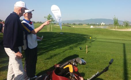 Prinţul Dimitrie Sturdza, la prima competiţie oficială de golf de la Teleac, lângă Alba Iulia
