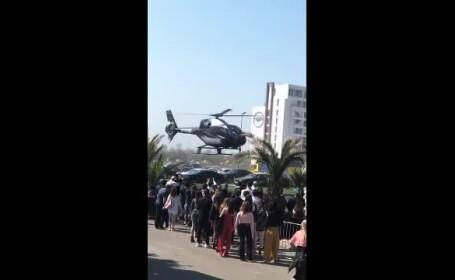 În Mamaia, un om de afaceri a sosit la petrecerea din club cu elicopterul