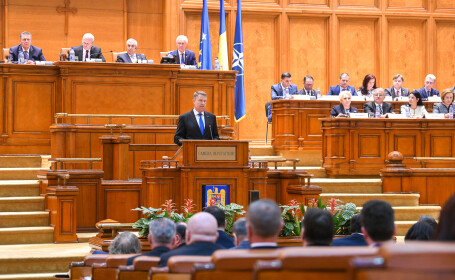 Klaus Iohannis in Parlament - 3