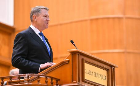 Scrisoarea președintelui Iohannis privind referendumul va fi votată miercuri în Parlament
