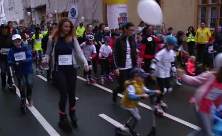 Mii de oameni au alergat pe ploaie, la Timișoara, în scop caritabil.