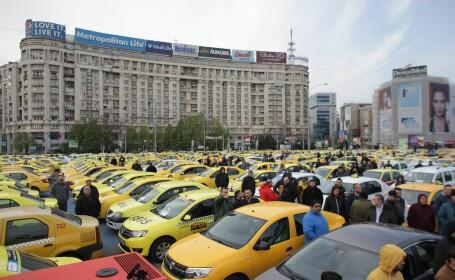 Protest al taximetriștilor în Piața Victoriei - 4