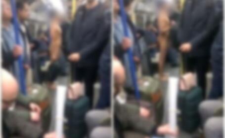 Bărbat filmat complet dezbrăcat în metroul din Londra